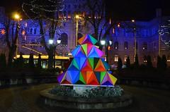 (ginatrn) Tags: night outdoor riga latvia letonia tree christmas colours architecture building