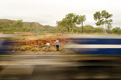 Right here, right now (Evens & Odds) Tags: outback bush road roadtrain roadtrip motion geologist queensland australia