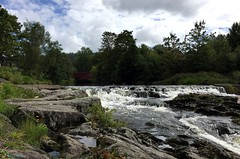 Natural beauty (Esan Semi) Tags: outdoor nature landscape norway oslo bakerhansen waterfall lake water beauty morning adventure plant tree trees summer cloudy sky