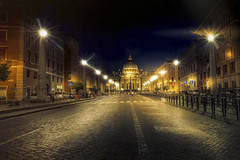 Rome, straight to the Vatican (Luc Mercelis) Tags: roma lazio italy it minoltaprimelens20mm night yscape