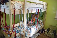 A cozy spot? (grilljam) Tags: ewan 7yrs seamus 4yrs summer august2016 bunkbed imaginativeplay allthosefingerknitscarves
