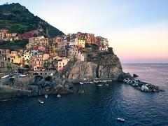 Manarola sunset - iPhone (Jim Nix / Nomadic Pursuits) Tags: iphone travel europe italy manarola cinque terre mediterranean sunset village