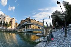 Canal St-Martin (c'estlavie!) Tags: canalstmartin paris france candid fisherman hdr nikon fisheye sky blue