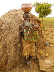 Mursi woman (Ethiopia) (davidevarenni) Tags: etiopia ethiopian mursi tribe trib woman