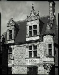 Maison St Paul (Philippe Torterotot) Tags: 4x5 chamonix45n2 fomapan100 film argentique analog noirblanc bw grandformat largeformat v700 lemans sarthe france architecture