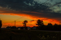Sunset over the road (psvrusso) Tags: lights sunset highway road dusk sky car view silhouette dark twilight outdoors rural landscape
