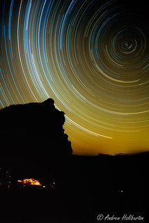 Star trails and Spout Cave, Cederberg Mountains