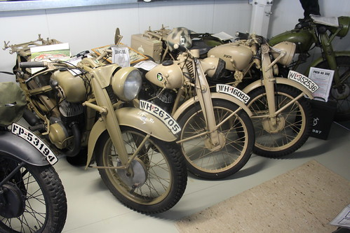 1940 DKW NZ 500, 1940 Puch 125 T and 1943 Puch S4 250 ccm