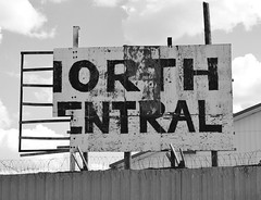 Orth Entral (chearn73) Tags: sign old weathered saukrapids minnesota blackandwhite roadtrip