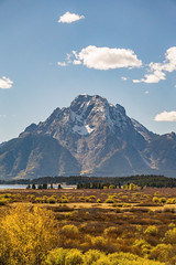 Prominent (SowfPaw) Tags: wyoming mountain lake sunny field grass a6000 grand tetons landscape outdoor moran fall autumn