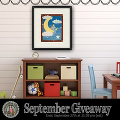 September Giveaway - Fly Me To The Moon Print (TwoLittleWitches) Tags: 2016 artprint boy contest dog fishing flymetothemoon giveaway moon september wallart