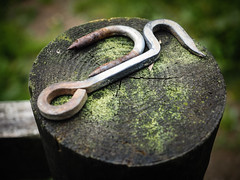 The Gatekeeper (real ramona) Tags: gate stay latch post metal timber exmoor worn simonsbath walk