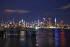 NYC Skyline (Ben Zavala) Tags: 2016 benzavala nyc sonya7 skyline skyscrapers cith night lights reflection city citylights manhattan new york big apple