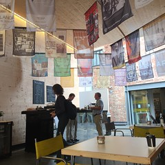 Cafe at Modern Art Oxford (breakbeat) Tags: art exhibition gallery space contemporary modernartoxford mao 50th missingbean cafe foyer posters kaleidoscope