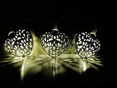 heart of the light (*LINNY *) Tags: moonlights heart hearts light fairy dark reflection glow glowing