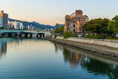Hirosima 2 (.MiguelPU) Tags: azul hirosima japan japon asia rio river cupula hora hazul blue hours reflejo agua water travel viaje