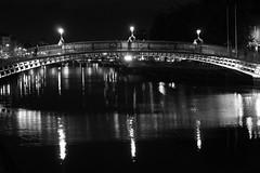The Ha'penny Bridge (@ELHynes) Tags: dublin dublinbynight dublincity ireland photographsofdublin photosofdublin templebar damelane oconnellbridge hapennybridge edenquay georgesstreet astonquay bachelorswalk emmahynes southgreatgeorgesstreet photosof photographsof picturesof imagesof blackandwhite blackwhite