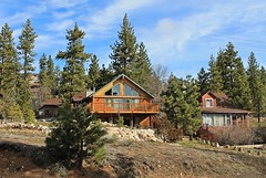 Houses of Character (Esther Spektor - Thanks for 11+ millions views..) Tags: houses trees sky clouds rocks window bigbear california hill estherspektor canon