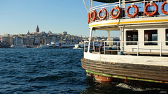 Waiting Ferry (cokbilmis-foto) Tags: istanbul eminn ferry ferries ship ships boat boats vessel stern bow passengers golden horn waterfront trkiye turkey sea water waves sony rx100 bosphorus bogazici galata kulesi tower karaky