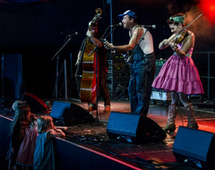 The Urban Pioneers (1hr photo) Tags: urbanpioneers bluegrass westernswing fiddle banjo doublebass larmertree2016 larmertreefestival livemusic