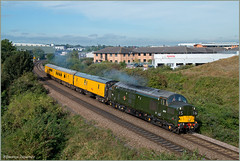 Wilmorton Departure (Resilient741 Photography) Tags: class 37 d6757 37057 viking ee english electric test train network rail pride park derby midland main line derbyshire diesel loco locomotive trains br british green livery 3z03