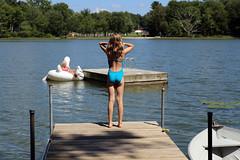 0619 (Jean Arf) Tags: pineplains ny newyork antlerclub summer 2016 lake casey tess dock swan