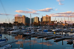 A winter's day at the Marina (Photosuze) Tags: ocean california sunset water clouds buildings reflections boats evening losangeles cities southerncalifornia harbors largest marinadelrey landsacpe saliboats manmadeharbors