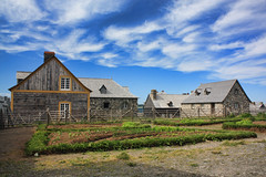 Planted in History (sminky_pinky100 (In and Out)) Tags: travel houses canada heritage tourism garden landscape novascotia historic coastal capebreton dwellings fortressoflouisbourg omot cans2s masterclassexhibition