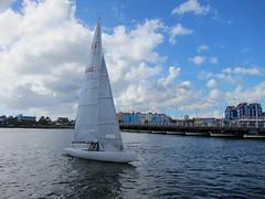 Boat Sailing through Sint Anna Bay (jdf_92) Tags: santa anna bay sint curacao caribbean curaao willemstad annabaai