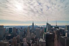 Lower Manhattan (wenzday01) Tags: city newyorkcity travel sky urban ny newyork skyline buildings nikon skyscrapers manhattan rockefellercenter tokina empirestatebuilding rockef