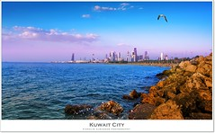 Kuwait City (khalid almasoud) Tags: city light sea beach clouds composition canon buildings evening fly sand rocks flickr all arch photographer gull capital  center vision rights estrellas kuwait khalid 1022mm reserved 2012 april14 icapture    greatphotographers   50d  almasoud  flickraward  thebestofday gnneniyisi