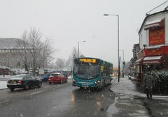 Arriva The Shires 3961 (Boxley) Tags: winter snow bus volvo bedfordshire wright dunstable arriva volvob7 arrivatheshires arrivabusuk 50250mm kx12gzz