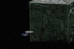 We Have Engaged The Borg (King_of_Games) Tags: startrek ship borg spaceship enterprise startrekthenextgeneration starship micromachines 1701 borgcube enterprised willking qwho willbking