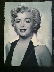 Marilyn Monroe Painting (AbigailHackArt) Tags: celebrity london art film painting star artist marilynmonroe famous icon hollywood watercolour