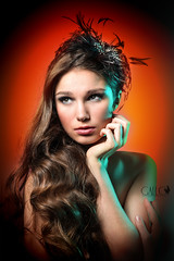 Autumn-colored strobes ... (Vicco Gallo) Tags: autumn portrait colors book swatch neil filter lee colored van filters gel strobe elvira niekerk honl strobist neleta
