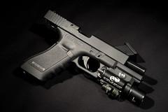 VFC G17 GBB airsoft - 01 (james bigdog) Tags: pistol dslr handgun wargame airsoft glock gbb sidearm g17 surefire vfc x400 strobist d700 sb900 dlite4
