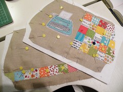 (monaw2008) Tags: typewriter square handmade linen fabric patchwork applique monaw monaw2008
