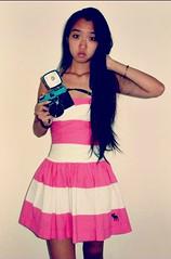Analogue Love (STEPH-808) Tags: camera pink portrait selfportrait film lomo lomography dress diana portraiture af abercrombie dianacamera dianaf abercrombieandfitch