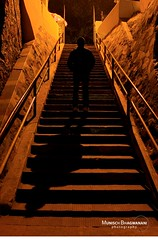 SHADOW (Munisch) Tags: light shadow people orange india black art night stairs geotagged photography eos lowlight photos creative cann stillphotography 550d