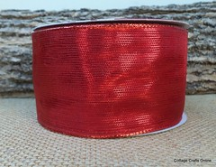 Red Metallic Wired Ribbon Offray (CottageCraftsOnline) Tags: valentine valentines wiredribbon valentinesribbon