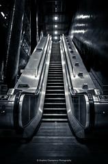 Escalator Number 8 (Stephen Champness) Tags: bw white black london station metal train underground nikon greenwich escalator north tube adobe hdr lightroom nikond3200 photomatix adobelightroom d3200