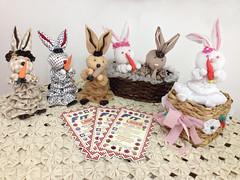 Coelhinhos de Fuxico (FIT LASER - SURPREENDA-SE!!) Tags: artesanato páscoa fuxico coelho máquina cesta tecido coelhinho idéia cenoura