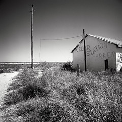 Cedar Station, US Route 90, Dryden, TX 78851 (Terrorkitten) Tags: blackandwhite 1948 abandoned 6x6 film square solitude texas tx roadtrip gas hasselblad disused westtexas texaco derelict 1947 blancinegre swc dryden lodgings c41 swcm superwide filmisnotdead hasselbladswc americanroadside usroute90 bebbington fujincn400 hasselbladswcm 78851 terrorkitten philbebbington zeissbiogon38mmf45 hsslbld edshepard cedarstndrydentx121001usahasselbladncn010011 theastman jbchapman preacherlaxton