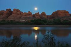 Colorado River at night (RH&XL) Tags: night river utah colorado arch arches trail corona moab
