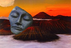Sleeping Volcano (nkimadams) Tags: collage landscape volcano buddha
