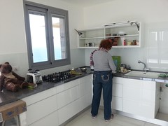 Irit in the kitchen, Bat Yam (dlisbona) Tags: sea vacation holiday vacances israel telaviv view apartment flat rental location appartement luxury seaview batyam louer apartement sejour