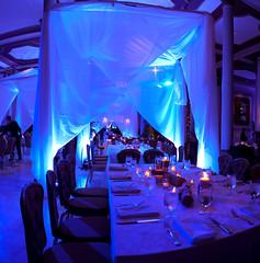 Blue Lighting - Drapery Lighting - The Driskill Hotel