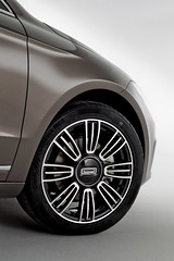 Qoros 3 Sedan - detail - front qtr wheel turned (bigblogg) Tags: sedan qoros3 qorosgq3 geneva2013