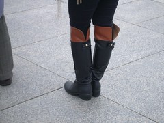 low heel over knee boots () Tags: black redbrown   overkneeboots