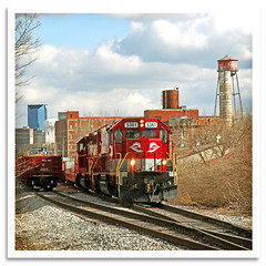 Out Bound (bogray) Tags: sky industry skyline clouds train lexington ky locomotive alcan emd sd40t2 dieselelectric rjcorman rjc5361